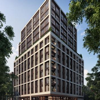 Large square building exterior