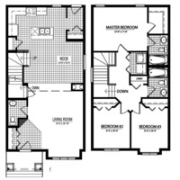 Medium whitman blackline floorplan