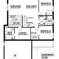 Medium brentwood basement floorplan