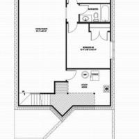 Medium blue jay optional basement floorplan