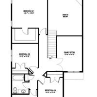 Medium eagle upper floorplan