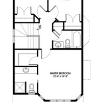 Medium monarch upper floorplan