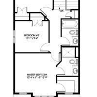 Medium dove upper floorplan