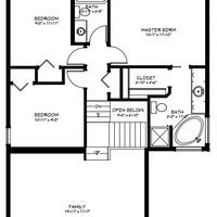 Medium upper floorplan