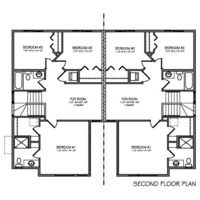 Medium second floorplan