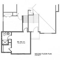 Medium second floorplan