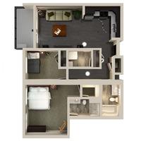 Medium uf 2 bedroom2 floorplan 1