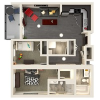 Medium uf 2 bedroom1 floorplan 1