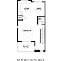 Medium second floor plan option b