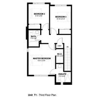 Medium third floor plan