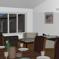 Medium the zircon dining to living room