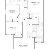 Medium second floor optional fourth bedroom