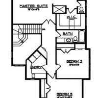 Medium upper floor plan