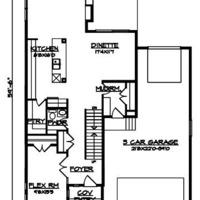 Medium main floor pla