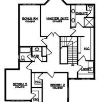 Medium second floor plan