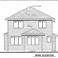 Medium rear elevation