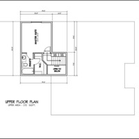 Medium custom bungalow bi level double garage 1659sqft upper floorplan