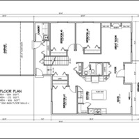 Medium custom bungalow bi level double garage 1659sqft main floorplan