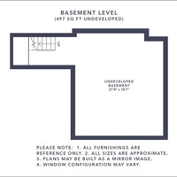 Medium larchstone a basement border