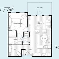 Medium units c floor plan london blue