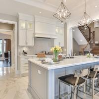 Medium modern kitchen in new home