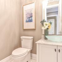 Medium new home half bathroom