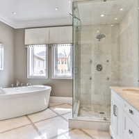 Medium ensuite bathroom in new home