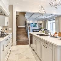 Medium kitchen living room
