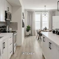 Medium townhome gallery kitchen
