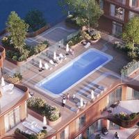 Medium 10 amenities pool aerial