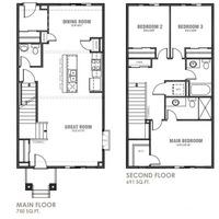 Medium willow floor plan