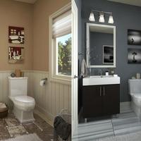 Medium bathrooms