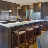 Medium boulevard kitchen view
