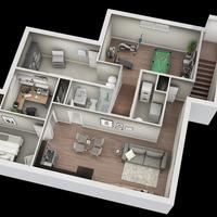 Medium bungalow basement view 1 1