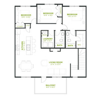 Medium floor plan upper floor olive cranstons riverstone calgary