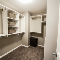 Medium walkin closet