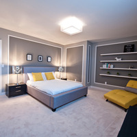 Medium basement bedroom
