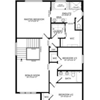 Medium floorplans upper floor