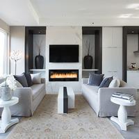 Medium luxury townhome fireplace