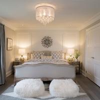 Medium new home master bedroom
