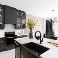 Medium aurora new home kitchen dining area