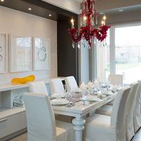 Medium new homes elegant dining room