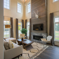 Medium new home family room