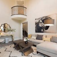 Medium modern living room