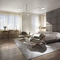 Medium modern bedrooms