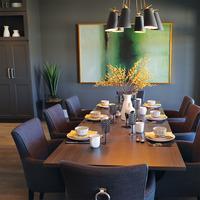 Medium modern luxury dining room brampton