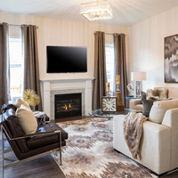Medium luxury new home living room