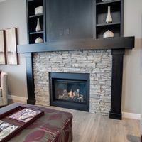 Medium fireplace
