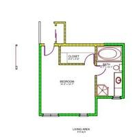Medium upper level floor plan