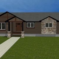 Medium craftsman modular house 3d render 1170x738
